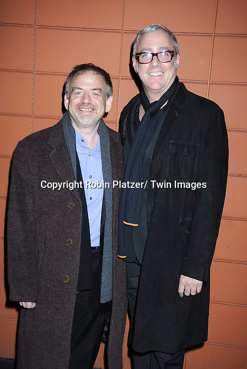 """Marc Shaiman and Scott Wittman attending The Opening Night of """"The Pee-Wee Herman Show"""" on Broadway .on November 11, 2010 at The Stephen Sondheim Theatre in New York City."""