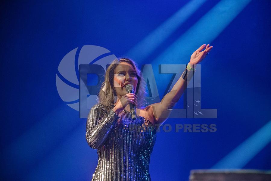 SAO PAULO,SP 15.02.2019 - SHOW-SP - A cantora Katê faz participação especial no show de Sidney Magal, no Espaço das Américas, zona oeste de São Paulo, na noite desta sexta-feira, 15. (Foto: Bruna Grassi/Brazil Photo Press)