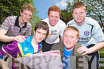 CBS the Green Tralee students Neill O'Carroll, Ewan Lynch Tralee, Gerard Arthurs, Ballymac, Rick Donal and Chris White from Tralee Sitting their Leaving Certificate English paper 1 on Wednesday
