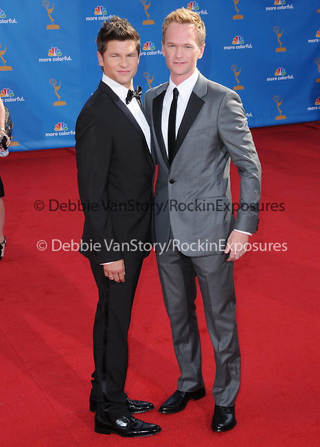David Burtka and Neil Patrick Harris ..  at The 62nd Anual Primetime Emmy Awards held at Nokia Theatre L.A. Live in Los Angeles, California on August 29,2010                                                                   Copyright 2010  DVS / RockinExposures