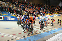 Picture by SWpix.com - 02/03/2018 - Cycling - 2018 UCI Track Cycling World Championships, Day 3 - Omnisport, Apeldoorn, Netherlands - woman's Omnium Scratch Race - Kirsten Wild of The Netherlands