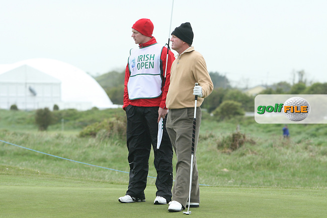Des Smyth with his son Greg during the Pro-Am at the Irish Open in Co.Louth Golf Club,  Baltray...Photo NEWSFILE/Jenny Matthews.(Photo credit should read Jenny Matthews/NEWSFILE)....This Picture has been sent you under the condtions enclosed by:.Newsfile Ltd..The Studio,.Millmount Abbey,.Drogheda,.Co Meath..Ireland..Tel: +353(0)41-9871240.Fax: +353(0)41-9871260.GSM: +353(0)86-2500958.email: pictures@newsfile.ie.www.newsfile.ie.FTP: 193.120.102.198.