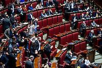 Roma, 31 Gennaio 2014<br /> Camera dei Deputati - Voto sulle pregiudiziali di costituzionalità della legge elettorale<br /> I banchi vuoti della Lega Nord