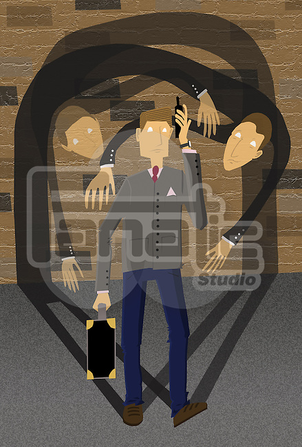 Conceptual image of businessman depicting corporate crime