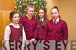 Amy O'Connor,Ciara McCarthy, Laura Foran and Danute voveryte from Muire Gan Smal, Castleisland  at the Tralee Credit Union Primary Schools Quiz, held at Ballyroe Heights Hotel on Sunday