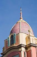 Europe/France/Provence-Alpes-Côte d'Azur/06/Alpes-Maritimes/Nice:  Détail toiture immeuble Place Masséna