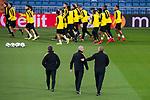 Borussia Dortmund coach Peter Bosz  during training session day before UEFA Champions League match between Real Madrid and Borussia Dortmund at Santiago Bernabeu Stadium in Madrid, Spain. December 05, 2017. (ALTERPHOTOS/Borja B.Hojas)