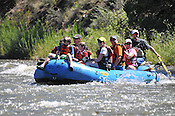 Bucking Rainbow Outfitters crashing Cable Rapid while floating the Upper Colorado River from Rancho to State Bridge, August 3, 2013, Morning Trip, AM, Bond, Colorado - WhiteWater-Pix | River Adventure Photography - by MADOGRAPHER Doug Mayhew