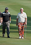 August 3, 2012: Craig Barlow, left, and John Daly walk up the 15th fairway during the second round of the 2012 Reno-Tahoe Open Golf Tournament at Montreux Golf & Country Club in Reno, Nevada.