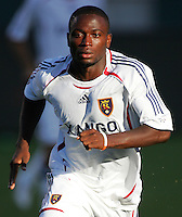 Real Salt Lake defender Jean Martial-Kipre (25) chases down a ball. CD Chivas USA beat Real Salt Lake 1-0 in a MLS game at the Home Depot Center in Carson, California, Sunday, August 26, 2007.