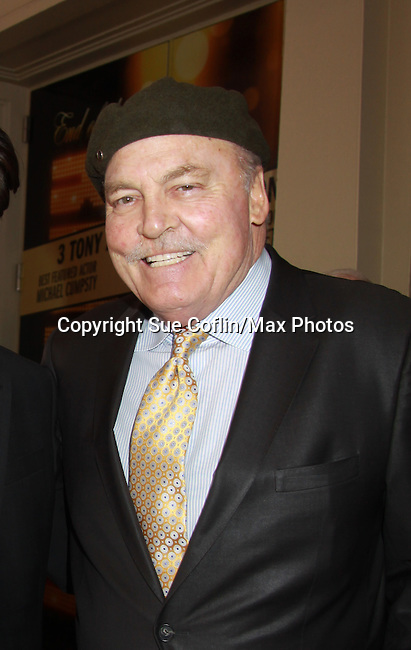 actor Stacy Keach who is a presenter at The 68th Annual Theatre World Awards 2012 presented to 12 actors for their Outstanding Broadway or Off-Broadway Debut Performances during the 2011-2012 theatrical season on June 5, 2012 at the Belasco Theatre, New York City, New York.