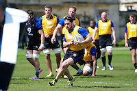 Horacio Agulla of Bath Rugby in possession. Bath Rugby training session on May 3, 2016 at Farleigh House in Bath, England. Photo by: Patrick Khachfe / Onside Images