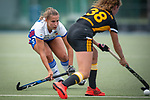 Mannheim, Germany, September 07: During the field hockey Bundesliga match between Mannheimer HC and Harvestehuder THC on September 7, 2019 at Am Neckarkanal in Mannheim, Germany. Final score 2-0. (Photo by Dirk Markgraf / www.265-images.com) *** Isabella Schmidt #31 of Mannheimer HC, Marisa Martin Pelegrina #38 of Harvestehuder THC