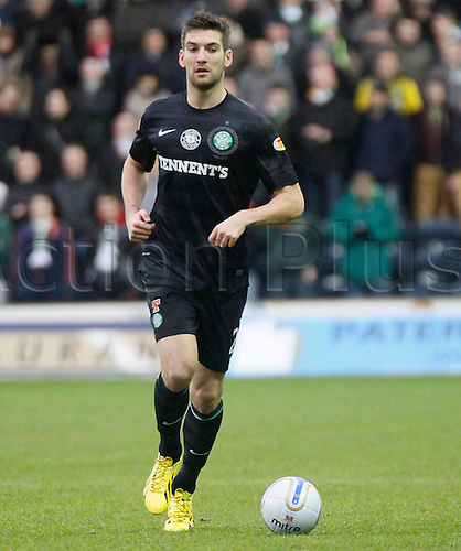 08.12.2012 Kilmarnock, Scotland. Charlie Mulgrew in action during the Scottish Premier League game between Kilmarnock and Celtic from Rugby Park Stadium.