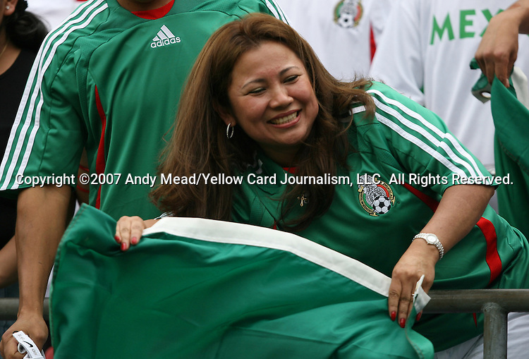 10 June 2007: A Mexico fan. The Honduras Men's National Team defeated the National Team of Mexico 2-1 at Giants Stadium in East Rutherford, New Jersey in a first round game in the 2007 CONCACAF Gold Cup.