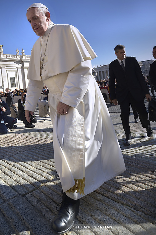 Pope Francis during of a weekly general audience at St Peter's square in Vatican, Wednesday,November 7, 2018.