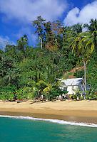 Trinidad & Tobago, Commonwealth, Tobago, Parlatuvier Bay: simple beach house for rent