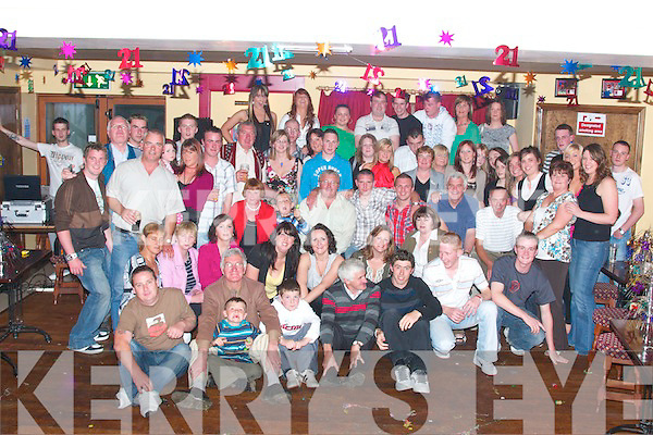 Conor Donogan, from Causeway seated centre in the white check shirt celebrated his 21st birthday with his father Dan Mother Ronnie brother Ian, family and friends in McHale's bar Causeway on Friday night..... .   Copyright Kerry's Eye 2008