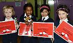 Eabha McKeon, Shanya Halooman, Angela Basil and Sinéad Fulham- Flood of St. Brigid's Girls National School with their Music Matters Certificates.Photo: Andy Sperarman. www.newsfile.ie