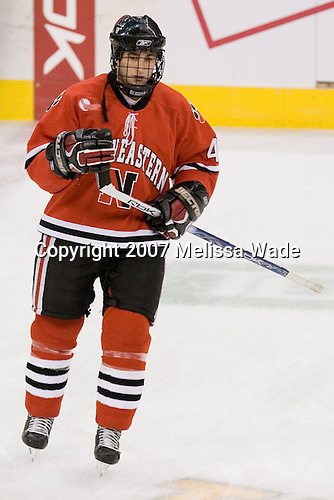 Jim Driscoll (NU - 4) - The Northeastern University Huskies defeated the Harvard University Crimson 3-1 in the Beanpot consolation game on Monday, February 12, 2007, at TD Banknorth Garden in Boston, Massachusetts.