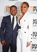 NEW YORK, NY October 12, 2017Jason Mitchell, Mary J. Blige attend 55th NYFF present  premiere of Mudbound  at Alice Tully Hall in New York October 12,  2017. Credit:RW/MediaPunch