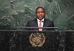 Address by His Excellency Filipe Jacinto Nyusi, President of the Republic of Mozambique