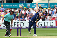 Jamie Porter in bowling action for Essex during Essex Eagles vs Surrey, NatWest T20 Blast Cricket at The Cloudfm County Ground on 7th July 2017