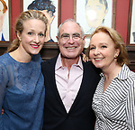 Katie Finneran, Todd Haimes and Kate Burton attends the Todd Haimes' Sardi's Caricature Unveiling at Sardi's  on June 7, 2017 in New York City.