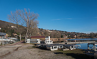 Gavirate. Lombardia. ITALY. General View.  Regatta infrastructure, start pontoons, Launches, finish Tower  GAVIRATE. Rowing club  Gavirate Rowing Club.<br /> <br />  <br /> Saturday  24/12/2016<br /> <br /> [Mandatory Credit; Peter Spurrier/Intersport-images]<br /> <br /> {make} {model}. ISO {iso}  f{aperture}  Lens {lens}mm   {filesize}