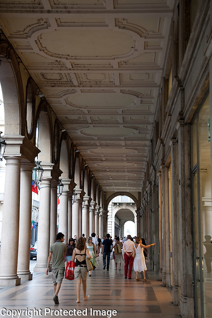 Shopping on Via Roma Street, Turin - Torino, Italy