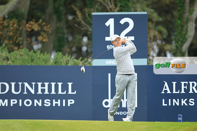 Richard Sterne (RSA) during Round 2 of the Alfred Dunhill Links Championship at Kingsbarns Golf Club on Friday 27th September 2013.<br /> Picture:  Thos Caffrey / www.golffile.ie