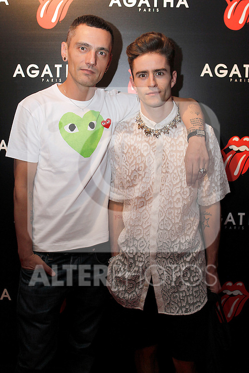 Pelayo (l) and David Delfin at Aghata evnt.28 june 2012.(ALTERPHOTOS/ARNEDO)