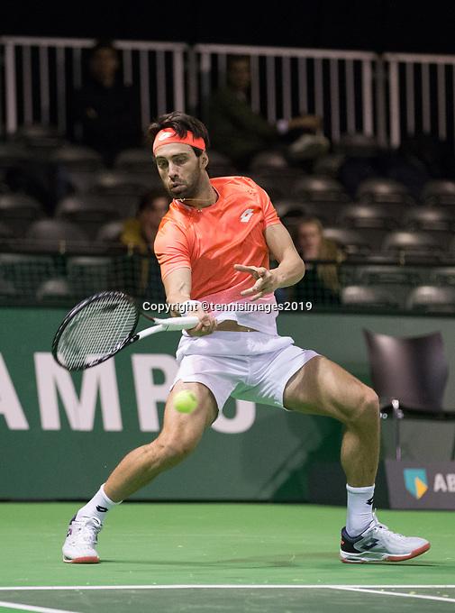 Rotterdam, Netherlands, 9 februari, 2019, Ahoy, Tennis, ABNAMROWTT,  NIKOLOZ BASILASHVILI (GEO) Photo: Henk Koster/tennisimages.com