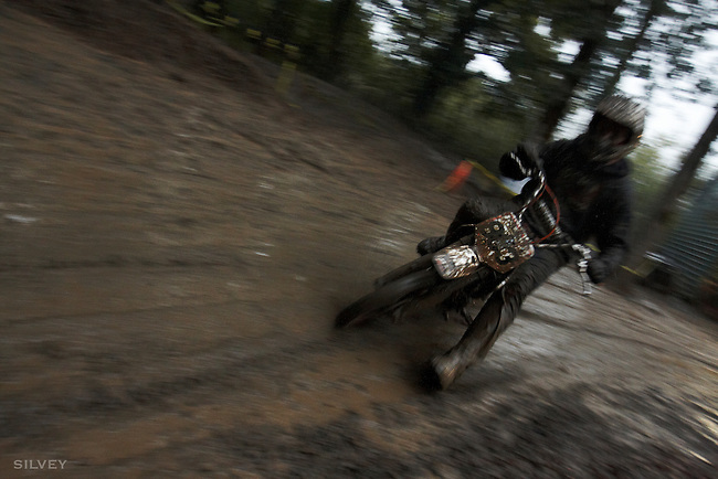 so much fun on dirt bikes on an over watered track.