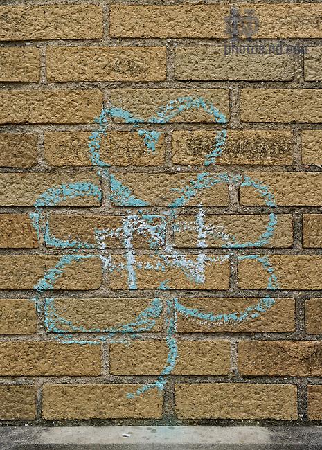 Sept. 7, 2011; Chalk drawing on Howard Hall...Photo by Matt Cashore/University of Notre Dame