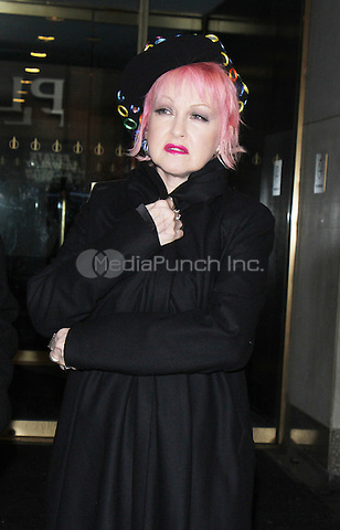 NEW YORK, NY - JANUARY 25: Cyndi Lauper pictured on the set of Access Hollywood in New York City on January 25, 2017. Credit: RW/MediaPunch
