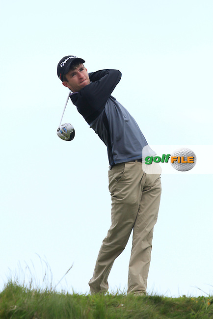 Sean Flanagan (Co. Sligo) on the 14th tee during Round 3 of the Irish Amateur Open Championship at Royal Dublin on Saturday 9th May 2015.<br /> Picture:  Thos Caffrey / www.golffile.ie