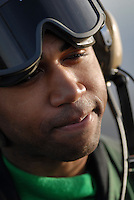 Wali, an Aviation Boatswain's Mate (Equipment) aboard USS Abraham Lincoln (CVN 72).