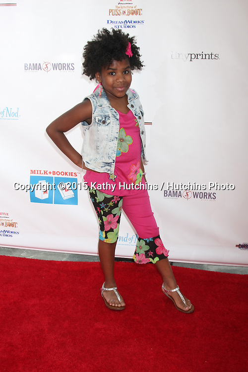 LOS ANGELES - FEB 19:  Trinitee Stokes at the Milk+Bookies Sixth Annual Story Time Celebration at the Toyota Grand Prix Racecourse on April 19, 2015 in Long Beach, CA