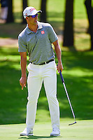 Adam Scott (AUS) reacts to missing a putt during round 1 of the World Golf Championships, Mexico, Club De Golf Chapultepec, Mexico City, Mexico. 3/2/2017.<br /> Picture: Golffile | Ken Murray<br /> <br /> <br /> All photo usage must carry mandatory copyright credit (&copy; Golffile | Ken Murray)