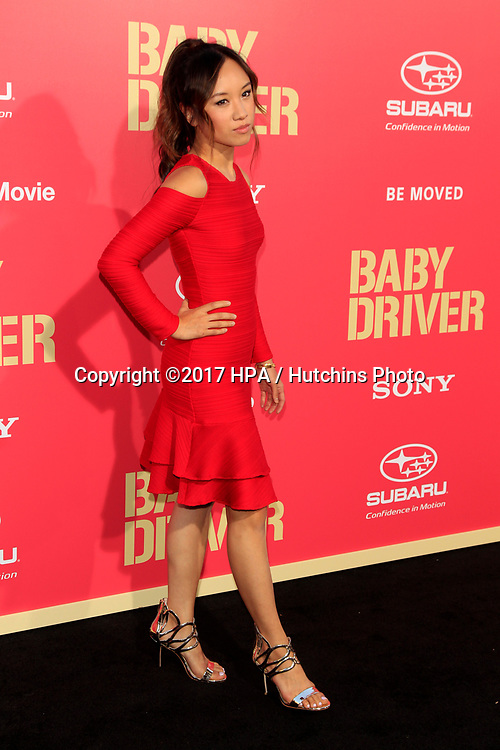 "LOS ANGELES - JUN 14:  Ellen Wong at the ""Baby Driver"" Premiere at the The Theater at Ace Hotel on June 14, 2017 in Los Angeles, CA"