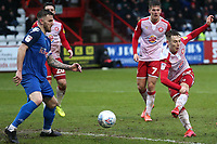 Liam Smyth of Stevenage foes close during Stevenage vs Salford City, Sky Bet EFL League 2 Football at the Lamex Stadium on 15th February 2020