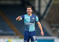 Matt Bloomfield of Wycombe Wanderers during the Sky Bet League 2 match between Wycombe Wanderers and Hartlepool United at Adams Park, High Wycombe, England on 26 November 2016. Photo by PRiME Media Images.