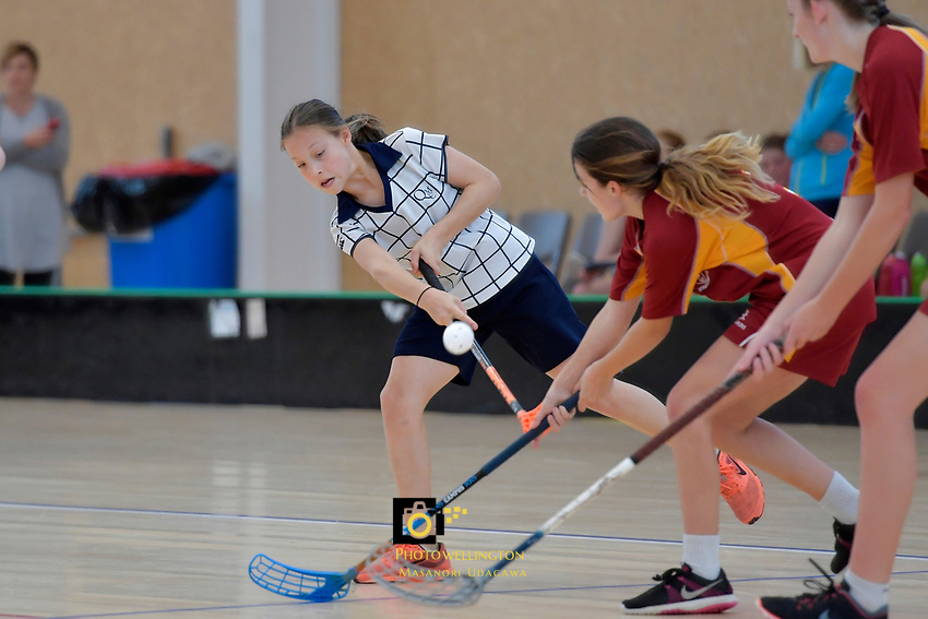 NZ Secondary School Floorball Championships at Walter Nash Centre, Lower Hutt, New Zealand on Thursday 30 March 2017.<br /> Photo by Masanori Udagawa<br /> www.photowellington.photoshelter.com.