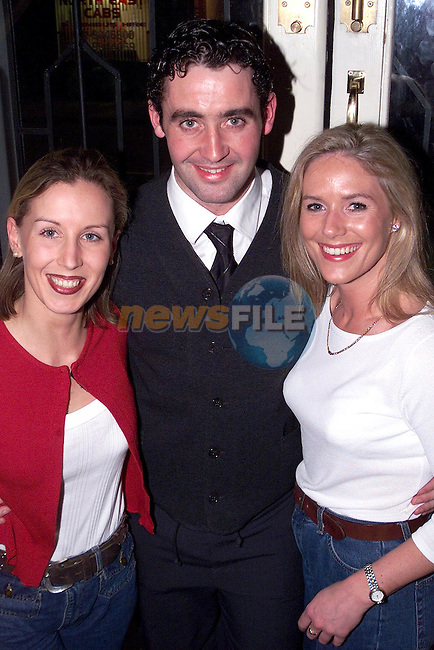 Jennifer McMahon, St. Mary's Villas, Stephen O'Donoghue, Star and Crescent and Kerry Tully, Tullyallen enjoying the Mozambique benefit night in the Star and Crescent..Picture Paul Mohan Newsfile