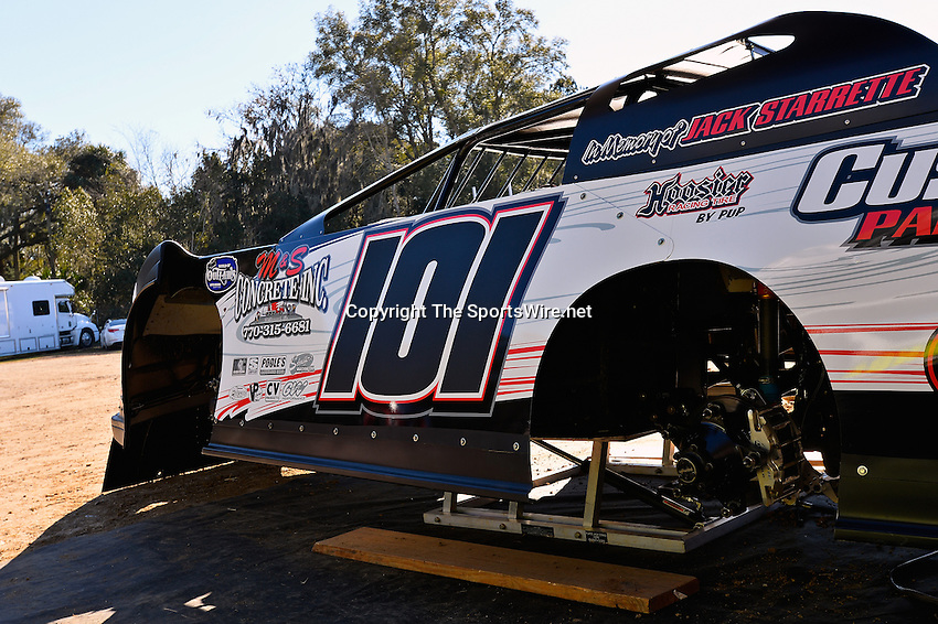 Feb 16, 2014; 3:28:44 PM; Ocala, FL., USA; The Third Annual Bubba Army Winter Nationals World Of Outlaws Super Late Models paying $12,000 to win at Bubba RaceWay Park.  Mandatory Credit: (thesportswire.net)