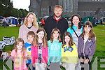 FUN TIME: Having a fun time at the Munster Circuit Dog Show at Killarney Cathedral on Tuesday front l-r:Sadbh Coleman, Fionn Colemand and Meabh Coleman, Fires, Caroline McCarthy, Sarah McCarthy and Mollie McCarthy, Chicago, USA (originally Tir Na Boul). Back l-r: Caitriona Coleman and John Coleman, Firies and Mary Foley Chicago, USA (originally Tir Na Boul).