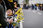 Young fan during the 2018 Saitama Criterium, Japan. 4th November 2018.<br /> Picture: ASO/Pauline Ballet | Cyclefile<br /> <br /> <br /> All photos usage must carry mandatory copyright credit (&copy; Cyclefile | ASO/Pauline Ballet)