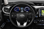 Car pictures of steering wheel view of a 2017 Toyota Hilux Lounge-Double 4 Door Pickup Steering Wheel