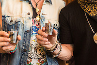Brian Kelley and Tyler Hubbard attend the Florida Georgia Line Celebrates Old Camp Peach Pecan Whiskey in Los Angeles on Sept. 26, 2016 (Photo by Inae Bloom / Guest of a Guest)